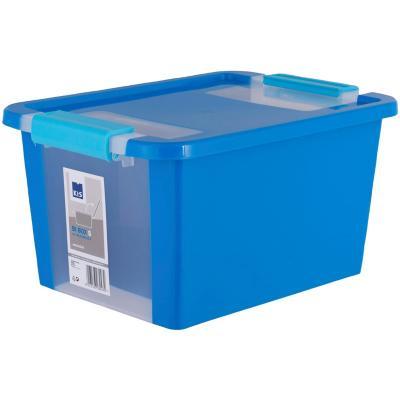 Caja organizadora 11 litros 36,5x26x19 cm azul