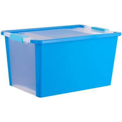 Caja organizadora 40 litros 55x35x28 cm azul