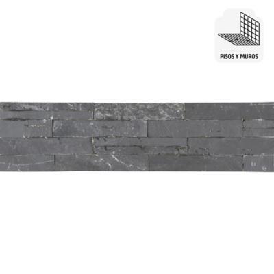 Piedra Mosaico 60 x 15 cm Negra 0.63 m2