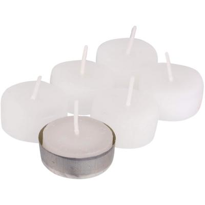 Set de velas tealight gardenia 6 unidades natural