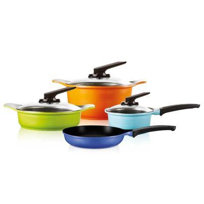 Batería de Cocina 7 Piezas Aluminio Multicolor