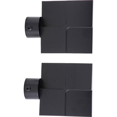 Set de terminales para barra de cortina 28 mm 2 unidades Negro