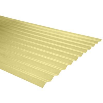Plancha fibra de vidrio ondulada amarillo 0.5mmx0.85mx2.0m