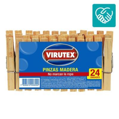 Set de pinzas para ropa madera 24 unidades