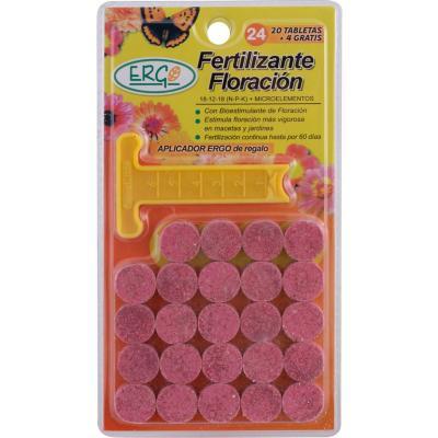 Fertilizante para flores 24 unidades pastillas