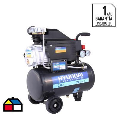 Compresor de aire 2 HP 24 litros