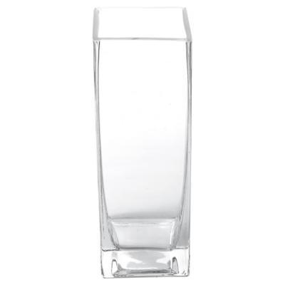 Florero 20x7x7 cm vidrio Transparente