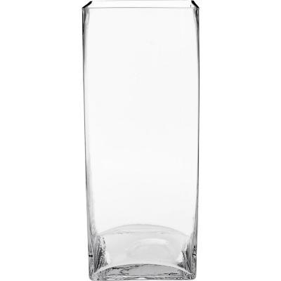 Florero 30x12x12 cm vidrio Transparente