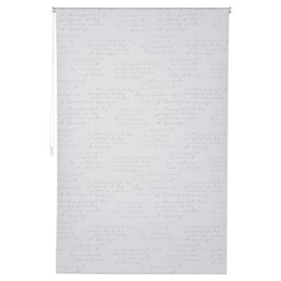 Cortina black-out Letras 80x165 cm blanco
