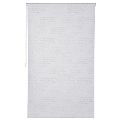 Cortina black-out Letras 80x165 cm blanco