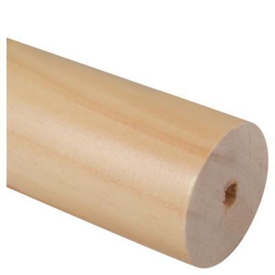 Barra cortina madera 35 mm 1,5 m café