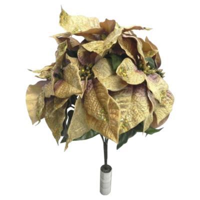 Flor con hojas doradas 33 cm