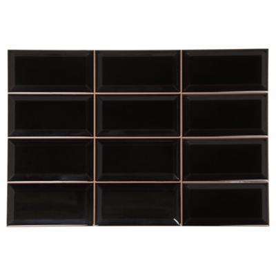 Cerámica negro 31x45 cm 1,4 m2
