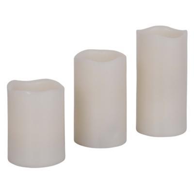 Set de velas LED 3 unidades marfil