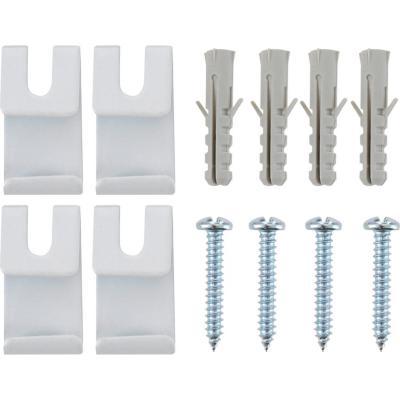 Set de tomas laterales para riel 3 cm 4 unidades Blanco