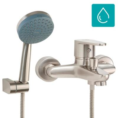Monomando tina ducha Dessin níquel bruñido