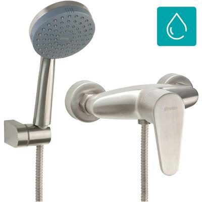 Monomando ducha Dessin níquel bruñido