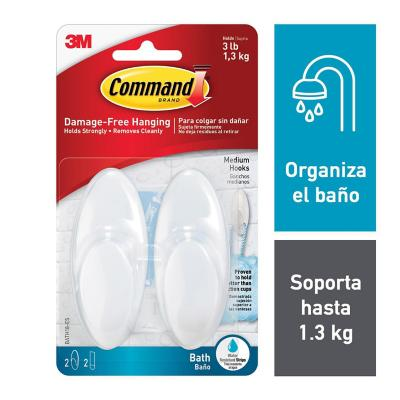 Gancho Command Baño x2  1,3 Kg