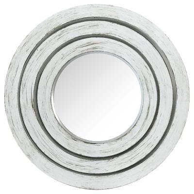 Set de espejos circulares 3 piezas blanco