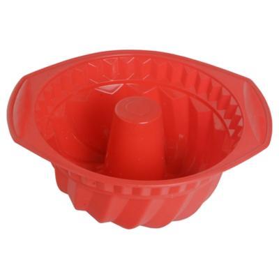 Molde para queque silicona rojo