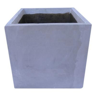 Macetero de cemento 30x30x30 cm gris