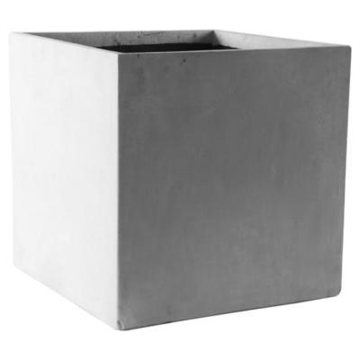 Macetero de cemento 50x50x50 cm gris
