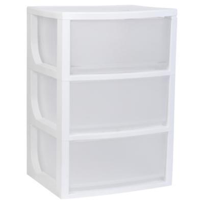 Cajonera multiuso plástico 70x39x50 cm 3 cajones blanco