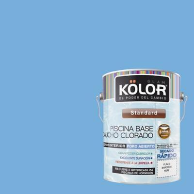 Pintura para piscina opaco 1 gl azul