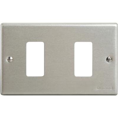 Placa 2 Módulos Aluminio Oxidal