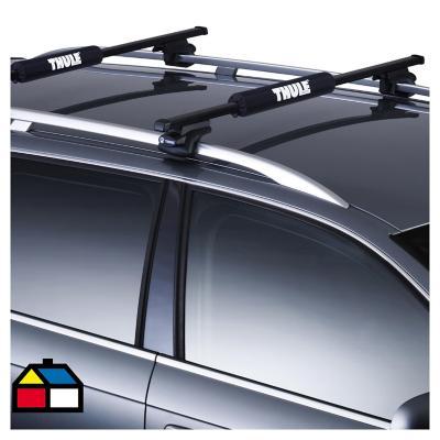 Set de pads para barra de techo 15x42x7 cm 2 unidades Negro