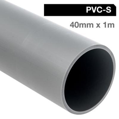 Tubo PVC-S 40mm x 1m  Gris Cementar