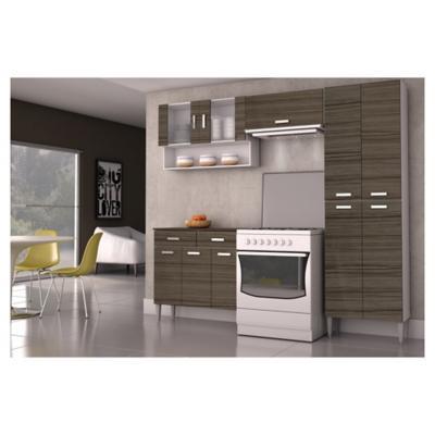 Kit mueble cocina 220x201x36 cm Parana