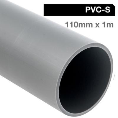 Tubo PVC-S 110mm x 1m  Gris Cementar