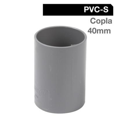 Copla PVC-S Cementar 40mm Gris 1u