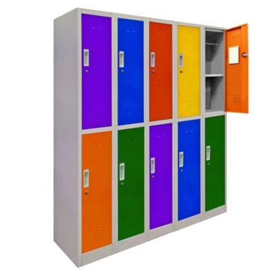 Locker de oficina acero 10 puertas con llave