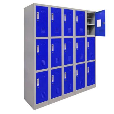 Locker de oficina acero 15 puertas con llave