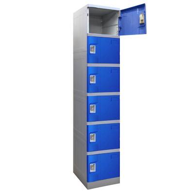 Locker plástico ABS 6 puertas con portacandado