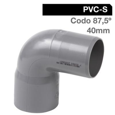 Codo 87,5o PVC-S Cementar 40mm Gris 1u