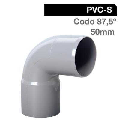 Codo 87,5o PVC-S Cementar 50mm Gris 1u