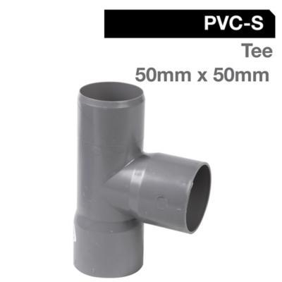 Tee PVC-S Cementar 50mm x 50mm Gris 1u