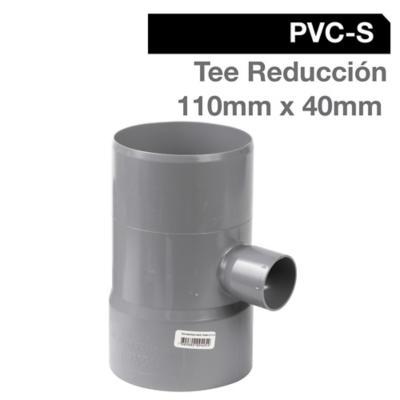 Tee Reducción PVC-S Cementar 110mm x 40mm Gris 1u
