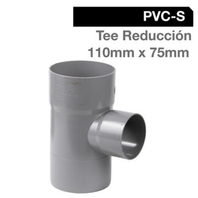 Tee Reducción PVC-S Cementar 110mm x 75mm Gris 1u
