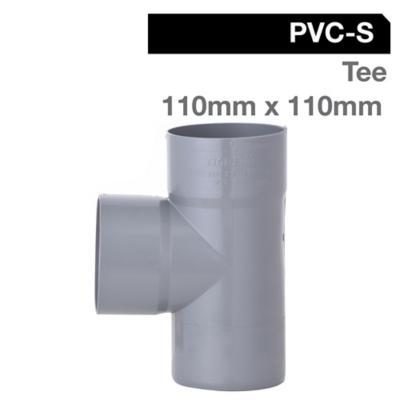 Tee PVC-S Cementar 110mm x 110mm Gris 1u