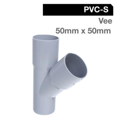 Vee PVC-S Cementar 50mm x 50mm Gris 1u
