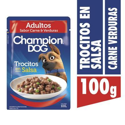 Alimento húmedo para perro adulto 100 gr carne y vegetales