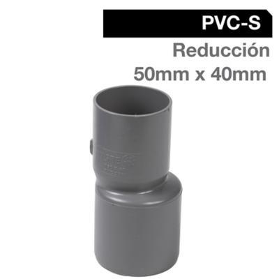 Reducción PVC-S Cementar 50mm x 40mm Gris 1u