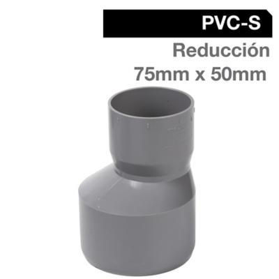 Reducción PVC-S Cementar 75mm x 50mm Gris 1u