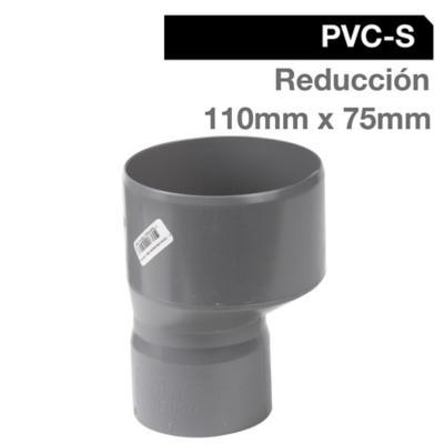 Reducción PVC-S Cementar 110mm x 75mm Gris 1u
