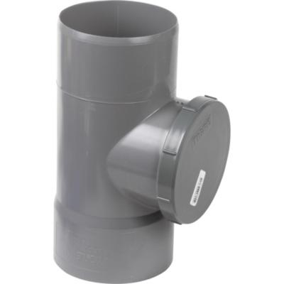 Tee Registro PVC-S Cementar 110mm Gris 1u