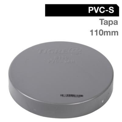 Tapa PVC-S Cementar 110mm Gris 1u